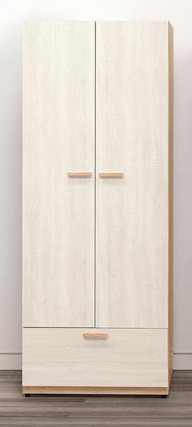 【森可家居】葛瑞絲2.5尺單吊衣櫃 10ZX043-3 衣櫥 北歐風 系統式設計 可隨意配置 MIT