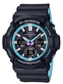 CASIO 卡西歐 G-SHOCK 霓虹派對潮流雙顯運動腕錶 GAS-100PC-1A