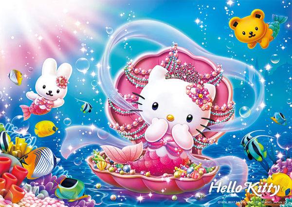 【拼圖總動員 PUZZLE STORY】人魚公主 日本進口拼圖/Beverly/Hello Kitty/108P