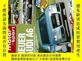 二手書博民逛書店auto罕見motor and sport HEFT 2008 08 14 外文原版汽車雜誌Y114412
