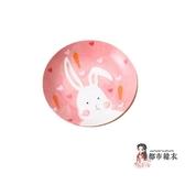 陶瓷分隔盤 兒童寶寶吃飯碗動物分格盤子陶瓷餐具套裝卡通可愛早餐盤杯勺 4色