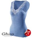 Ghiro-寬版蕾絲L羊毛蠶絲內搭衣(水藍)G15142