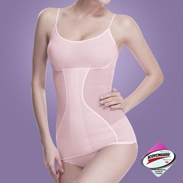 Bast 芭絲媞 塑身平腹細肩帶背心-粉嫩紅