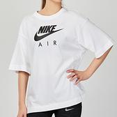 Nike AS W NSW AIR TOP SS BF 女子 白色 基本款 寬鬆 短袖 CJ3106-100