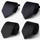 領帶 黑色領帶男 正裝 商務 職業 禮盒裝男士西裝懶人拉鏈領帶一易拉得【快速出貨八折下殺】