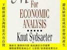二手書博民逛書店Mathematics罕見For Economic AnalysisY256260 Knut Sydsaete