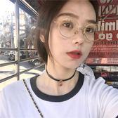 精致感!韓國復古石榴紅閃鉆短款choker項鍊氣質百搭鎖骨鍊女X155