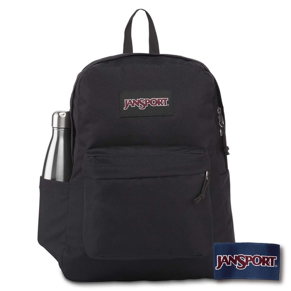 【JANSPORT】SUPERBREAK PLUS 系列後背包 -黑(JS-43511)