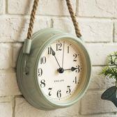 北歐現代簡約鐘錶超靜音臥室掛鐘客廳鐵藝金屬鐘錶個性創意石英鐘