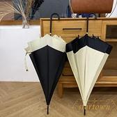 長柄傘女復古太陽傘晴雨兩用防曬防紫外線【繁星小鎮】