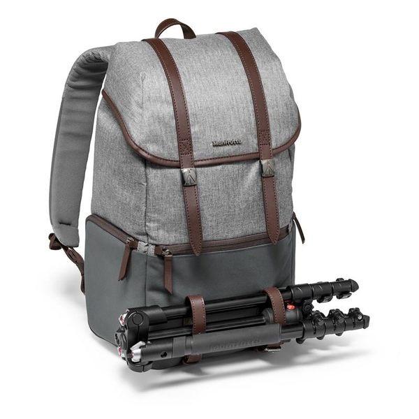 特惠下殺 Manfrotto溫莎雙肩後背包 + Marsace 馬小路 C15i 碳纖維腳架 套組 總代理公司貨 便攜三腳架