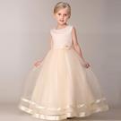 女童禮服夏洋裝童裝小女孩花朵 網紗公主裙兒童無袖裙蓬蓬裙