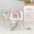 喜糖袋 透明伴手禮袋子高檔手提空盒婚禮喜糖盒ins風結婚伴娘女小禮品袋