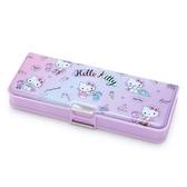 〔小禮堂〕Hello Kitty 雙開式多功能鉛筆盒《紫.彩色熊》筆袋.學童文具 4901610-65167