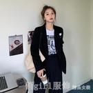 西裝外套 秋季韓版新款寬鬆百搭設計感小眾上衣女英倫風西裝外套顯瘦西服潮 618購物節