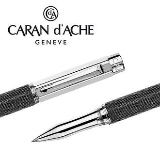 CARAN d'ACHE 瑞士卡達 VARIUS 維樂斯鎧甲鋼珠筆(黑) / 支