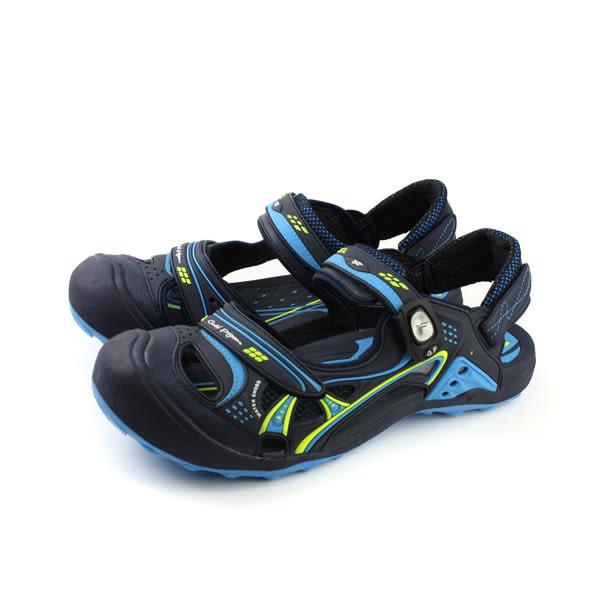 GP (Gold.Pigon) 阿亮代言 涼鞋 防水 雨天 護趾 前包式 男鞋 深藍色 G7643M-23 no796