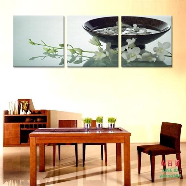 客廳無框畫三聯畫臥室裝飾畫墻畫  靜物花(W147)