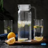 冷水壺青蘋果冷水壺玻璃涼水壺大容量水杯套裝防爆耐熱家用耐高溫涼水杯