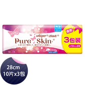 好自在 Whisper 衛生棉 純肌+ 貼身日夜用28cm 10片x3包 - P&G寶僑旗艦店