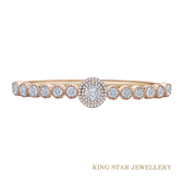 18K奢華玫瑰金滿鑽1.5克拉鑽石手環 King Star海辰國際珠寶 飾品 配件 (30分最白D color SI1/3EX H&A)