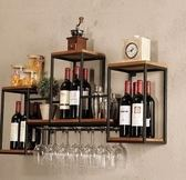 酒架 吊櫃酒架家用壁掛實木紅酒裝飾酒櫃吧台酒杯擺件酒格架葡萄酒