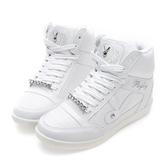 PLAYBOY 魅力首選 韓系內增高休閒鞋-白