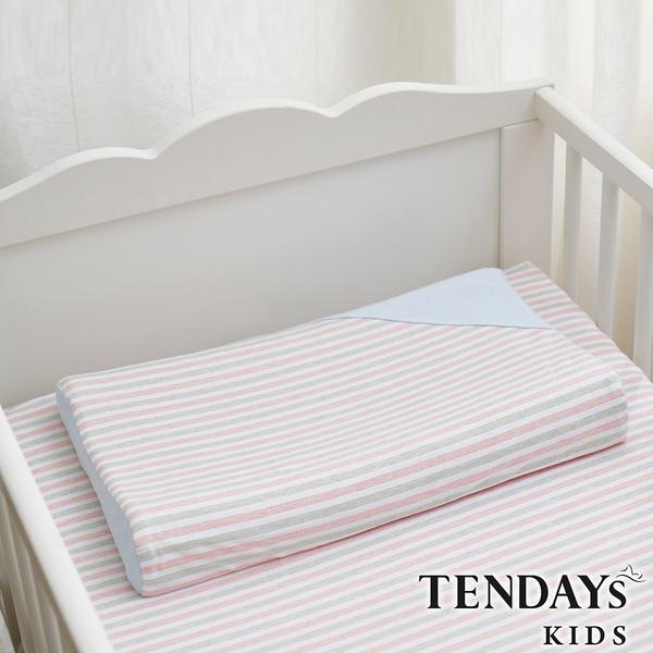 TENDAYs 有機棉可水洗透氣Ω天使枕(和風藍 0-4歲 可水洗記憶枕)