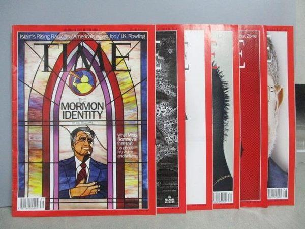 【書寶二手書T9/雜誌期刊_PAY】TIME_2012/10-12_共6本合售_MORMON IDENTITY等