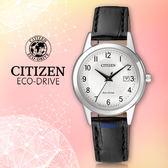 CITIZEN 星辰 手錶專賣店 CITIZEN FE1081-08A 女錶 小牛皮錶帶 光動能  防水