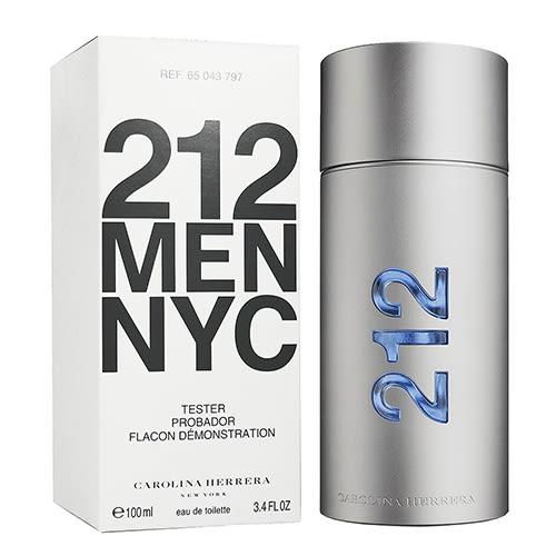 【Carolina Herrera】212 都會 男性淡香水 100ML TESTER(環保盒有蓋)