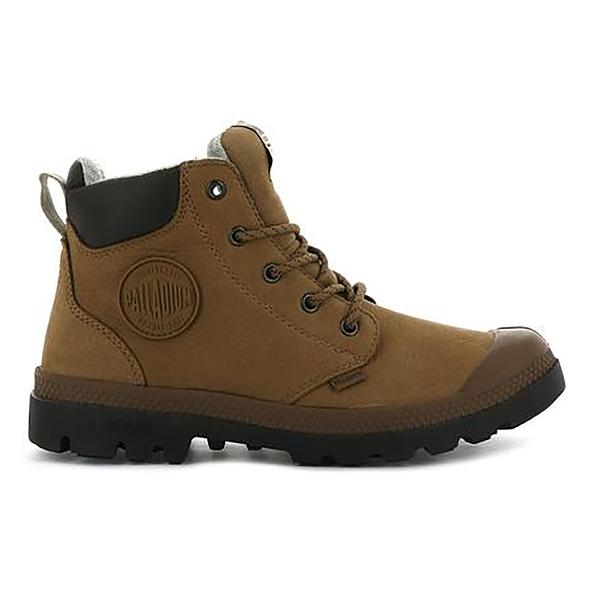 PALLADIUM PAMPA LITE CUFF WP LTH 防水皮革軍靴 76464257 咖啡