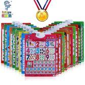 繁體字卡無聲卡片式掛圖識字早教兒童幼兒學習大卡認字漢字玩具 Chic七色堇