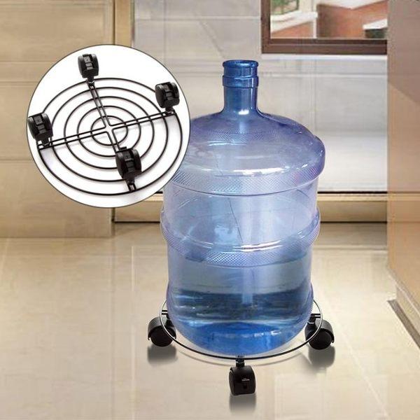 [超豐國際]加厚花架萬向輪底座帶滾輪底盤 滑輪可移動的圓形花盆托
