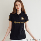 【GIORDANO】 女裝Champion撞色POLO衫 - 40 標誌黑