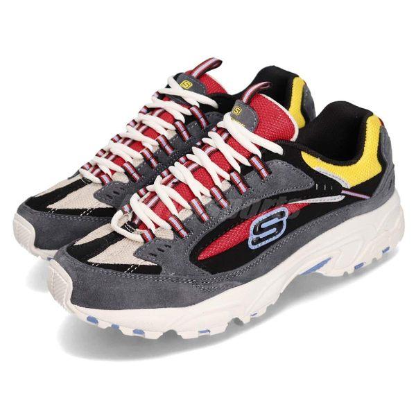Skechers 休閒鞋 Stamina Cutback 灰 紅 避震緩衝橡膠鞋底 Dad Shoes 男鞋 運動鞋【PUMP306】 51286CCRD