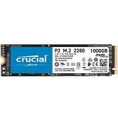 Micron 美光 Crucial P2 1TB PCIe M.2 2280 SSD 固態硬碟 CT1000P2SSD8