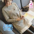 【愛天使孕婦裝】韓版(81322)超暖 鋪長毛鐵塔哺乳衣 孕婦裝