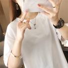 夏T恤 0078#純色多色T恤短袖寬松版1F151-A韓依紡