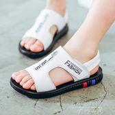 牛皮童鞋2018夏季新款男童涼鞋兒童沙灘鞋軟底韓版男孩涼鞋  米娜小鋪
