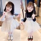 *╮小衣衫S13╭*女童甜美波點網紗裙假2件長袖洋裝1090918