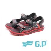 【G.P】磁扣排水休閒舒適海灘涼拖二用鞋 男女共用款 紅(另有藍/綠)