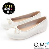 G.Ms.*MIT系列-羊皮線圈綁繩蝴蝶結包鞋-綿糖白