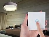 無線遙控開關免布線觸摸面板220v電燈智能家用床頭雙控隨意貼