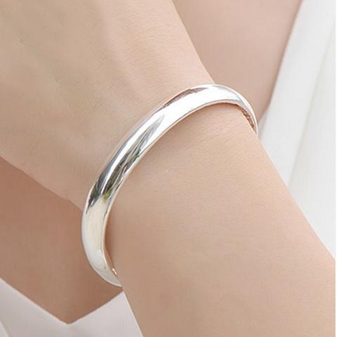 手鐲 999足銀純銀女手環開口滿天星時尚百搭銀飾品 - 歐美韓熱銷