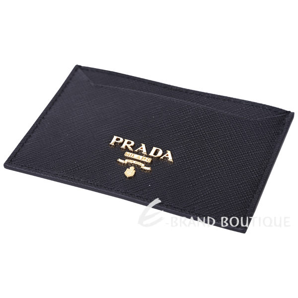PRADA Saffiano 金字浮刻LOGO防刮牛皮萬用卡夾(黑色) 1620760-01