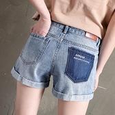 捲邊牛仔短褲女寬鬆直筒褲高腰2021夏新款闊腿薄款熱褲子顯瘦百搭【快速出貨】