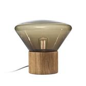 捷克 Brokis Muffins Wood 01 Table Lamp 穆林 玻璃 立式桌燈 圓徑 37cm 小尺寸(煙薰灰色款)