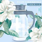 圖拉朗歐式玻璃冷水壺涼水壺1400ml大容量耐熱防爆晾水壺杯套裝『韓女王』