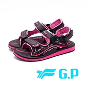 【G.P】高彈力緩震舒適涼鞋 女鞋-黑粉